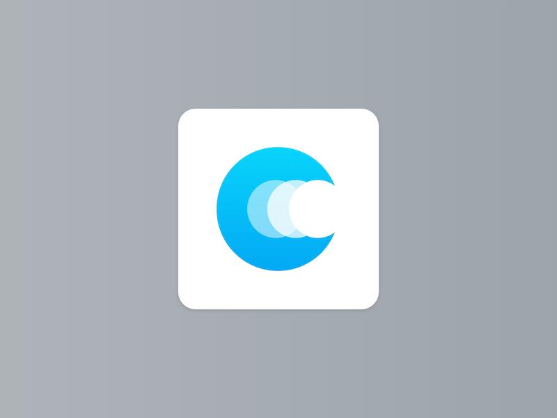 Letter C blue p logo letter design brand