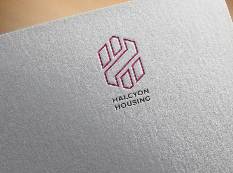 Halcyon logo website web icon illustrator user experience minimal logo flat identity vector branding