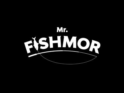 Mr. Fishmor minimal flat icon identity typography design type branding lettering logo