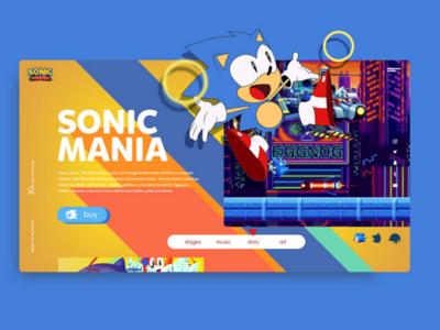 Sonic Mania Web Design