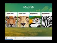 Animal Educational iPad App