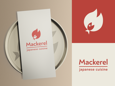 Mackerel | Logo for a seafood restaurant logotype flame seafood m fish monogram logo design logo
