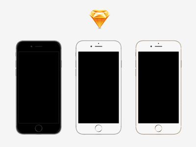 iPhone 6 & 6 Plus Devices (Sketch) sketch iphone6 mockup template vector apple device iphone6plus