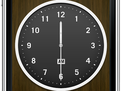 Time Selector selector clock time wood iphone momento