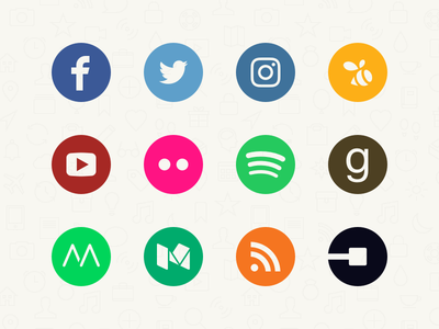 Momento Feed Icons momento colour circle icons services apps social feeds