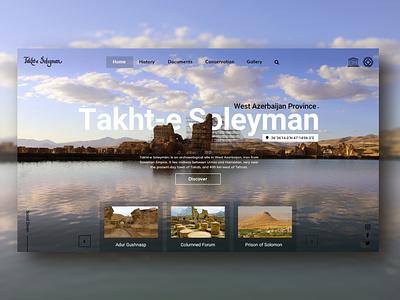 UNESCO World Heritage Site turism iran uxdesign uidesign historical unesco web design website illustration flat