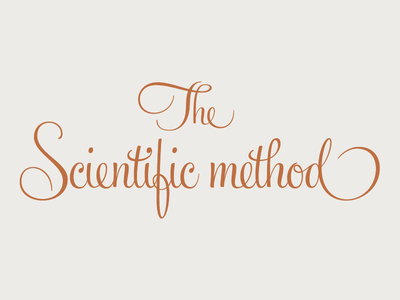 The Scientific Method logotype logo typography feel script ale paul sudtipos glyph ligature custom