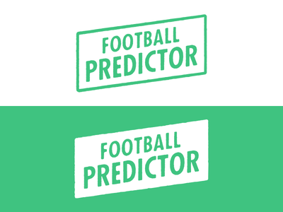 Football Predictor football predictor logo logotype futura condensed bold rough texture