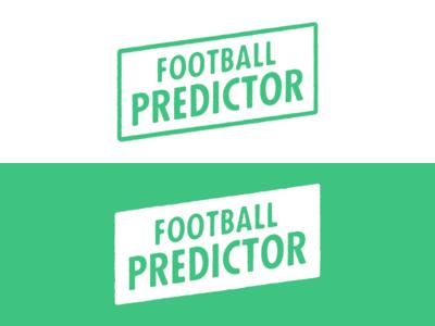 Football Predictor football predictor logo logotype futura condensed bold rough texture
