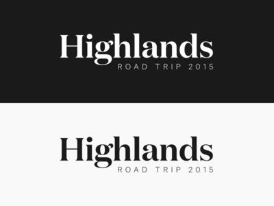 Highlands Road Trip 2015