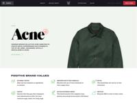 Fashion brand page
