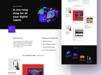 New homepage direction
