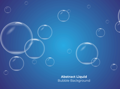Creative Abstract Liquid Bubble Background Design