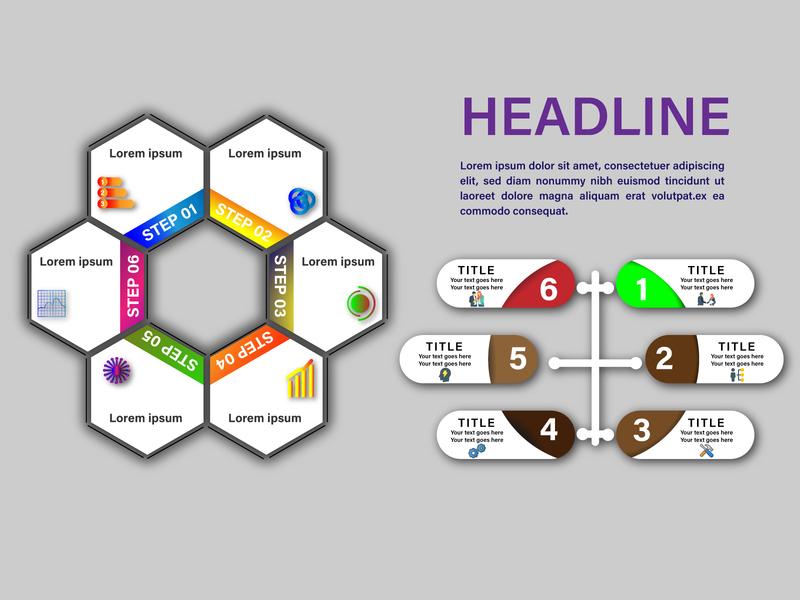 Creative Business Info Graphic Design template