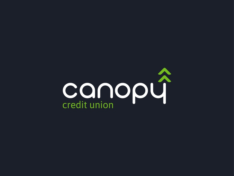 Canopy Credit Union bank credit union clean design vector trees pacific northwest typography branding logo design