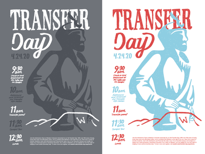 Transfer Day Posters western mountains mountaineer poster typography hand lettering illustration design