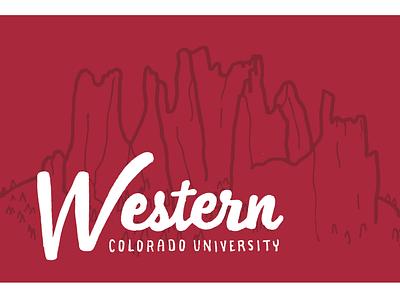 Western Postcard typography hand lettering illustration design