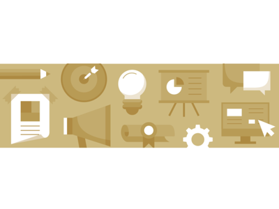 Landing Page Hero Image for Marketing Degree marketing infographic design vector illustration icons