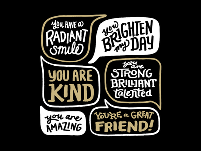 World Compliment Day Social Post 1 speechbubble compliment clean hand lettering illustration design