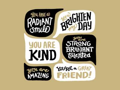 World Compliment Day Social Post 2 speechbubble compliment clean hand lettering illustration design