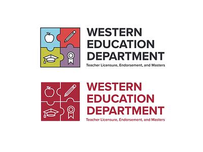 Western Education Department Logo illustration typography logo vector design