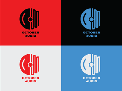 October Audio Identity Branding web typography vector branding logo design