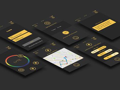 Lyte—Bike Light App userinterface icon app web uiux ui design ui branding logo design