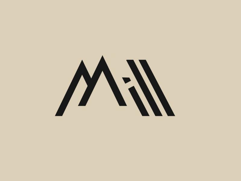 Mill Logo minimalist portfolio branding graphicdesign logomark logo