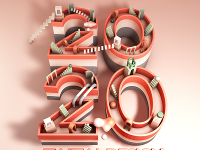 2020-HAPPY NEW YEAR new year 2020 design ps visual artist visual art visual c4doc c4dfordesigners c4dart c4d animation