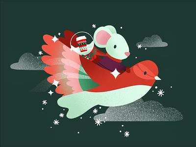 Starbucks for Life - Game Illustration winter holiday season whimsical playful procreate illustration digital cute animals seasonal starbucks christmas holiday cute illustrations cute illustration digital illustration