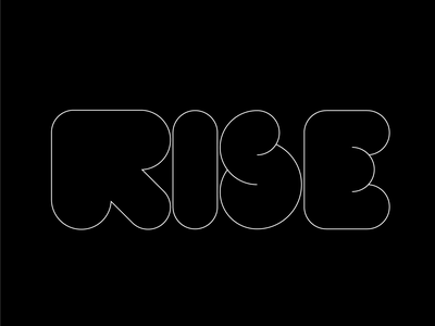 RISE logo type logo eleazar hernandez puffy letter arrow gestalt