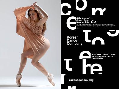 Come Together Festival Poster eleazar hernandez typography creative direction design poster dance