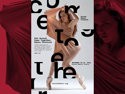 Come Together Poster eleazar hernandez movement design typography dance