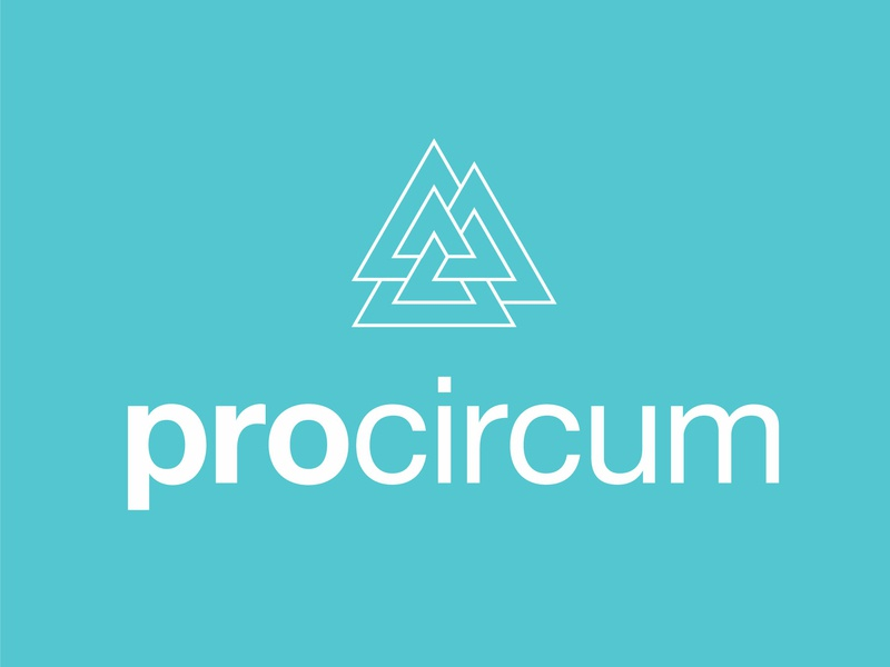 ProCircum Labs eleazar hernandez pyramid three sans-serif weave triangle logo lab