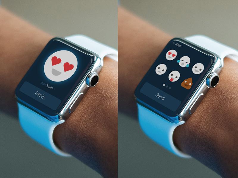 Emoji Chat Apple Watch concept smile apple ux ui applewatch emoji