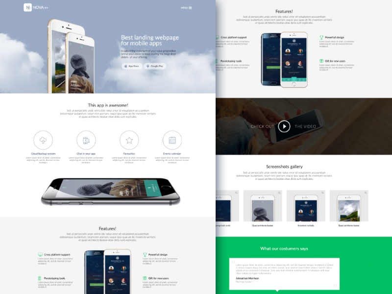Mobile app website template by knyaz yaqubov dribbble dribbble sayt maxwellsz
