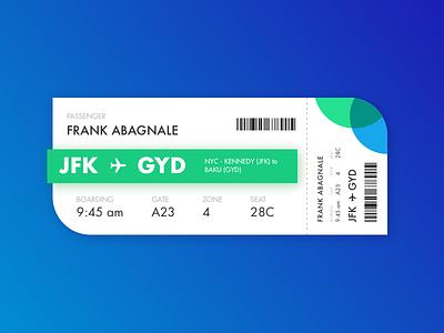 Boarding Pass UI design ui plane airport flight ticket boarding pass