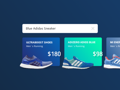 Search Result UI blue ui design adidas sneaker shop commerce result search