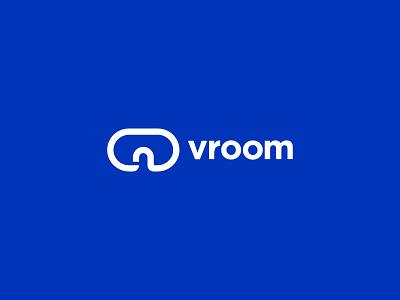 VROOM LOGO branding design future logo room virtual reality vr