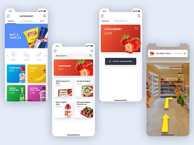 Supermarket IOS app design concept iphonex ui ux design ios app grocery store market supermarket
