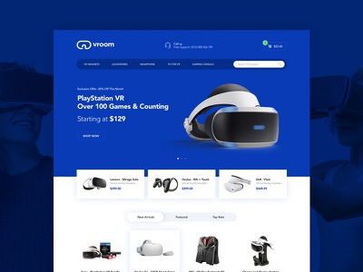 Vroom website design ui website design future logo room virtual reality vr