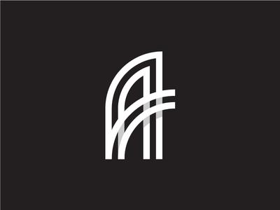 A Letter Logo grid monogram branding logo letter lettermark a