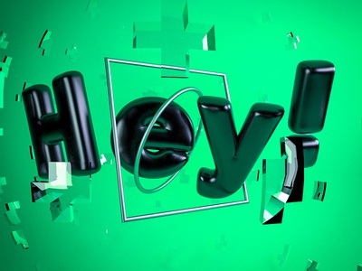 Daily Render 8 - Hey! Type design vray cinema4d c4d render daily hey!