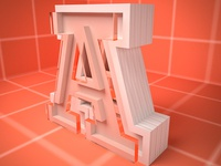 Daily Render 10 - A letter vray cinema 4d c4d 3d typogrpahy letter red