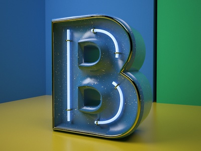 Daily Render 14 - B Letter c4d cinema 4d vrayforc4d vray 3d letter b typogaphy