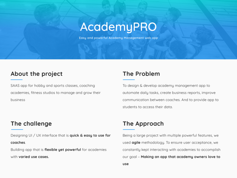 AcademyPRO dashboard logo branding design expenses businessreports businessreports payment attendance webapp ui ux app