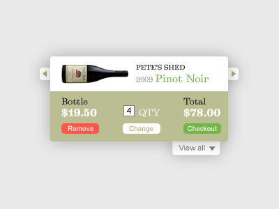 Shopping Cart Widget shopping cart wine