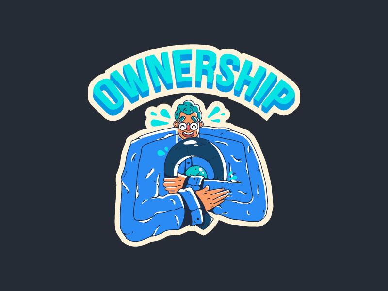 Core Value Sticker sticker design brand love ownership print sticker people illustration