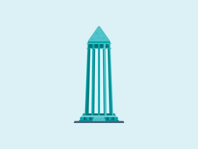 Avicena's tomb - Iran, Hamedan illustator vector illustration architechture city snapp hamedan landmark building avicena iran monument illustration