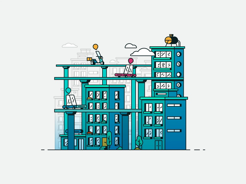 From Here to there transportation lineart linear city design vector architechture taxi cab app ui car internet taxi building icon snapp illustration
